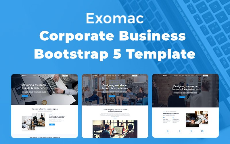 Exomac – Corporate Business Bootstrap 5 Website Template