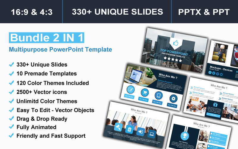 Bundle 2 IN 1 Multipurpose PowerPoint Template