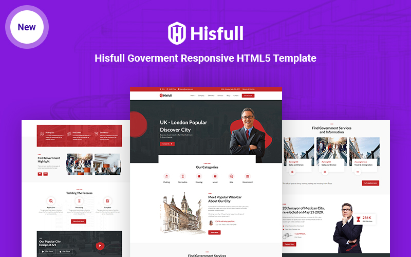 Hisfull - Municipal and Government Responsive HTML5 Website Template