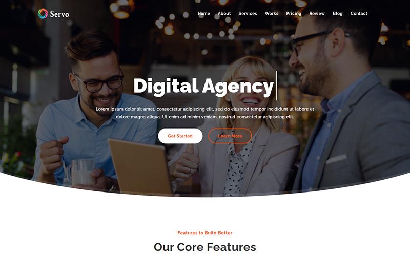 Servo - Digital Agency Landing Page Template
