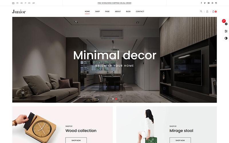Junior - Furniture Home Decor Prestashop 1.7.7.x Theme
