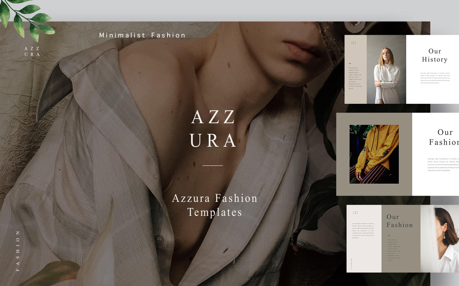 Azzura Branding Powerpoint template