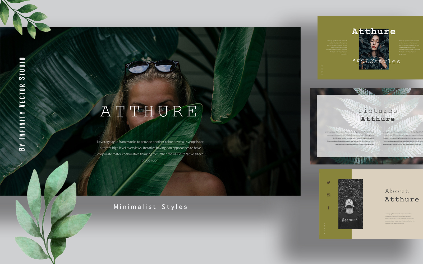 Atthure Fashion Powerpoint template