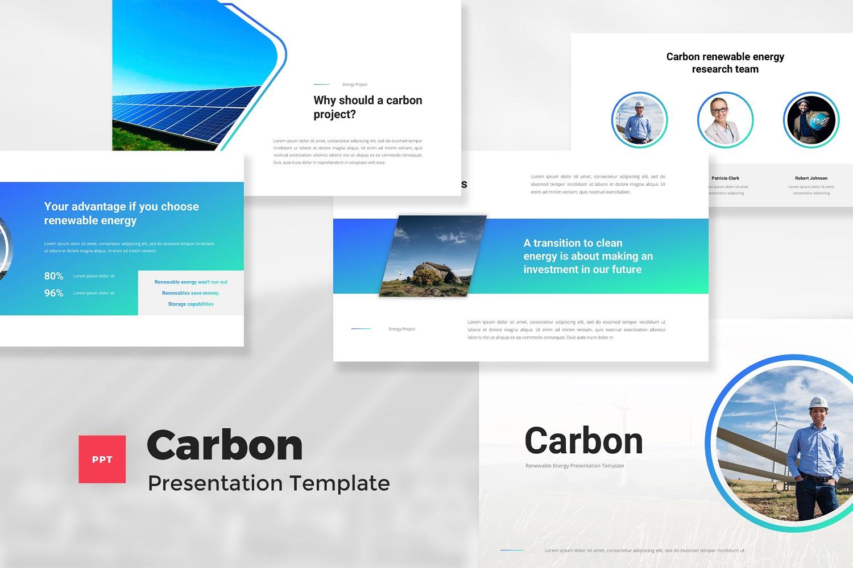 Carbon - Renewable Energy PowerPoint Template
