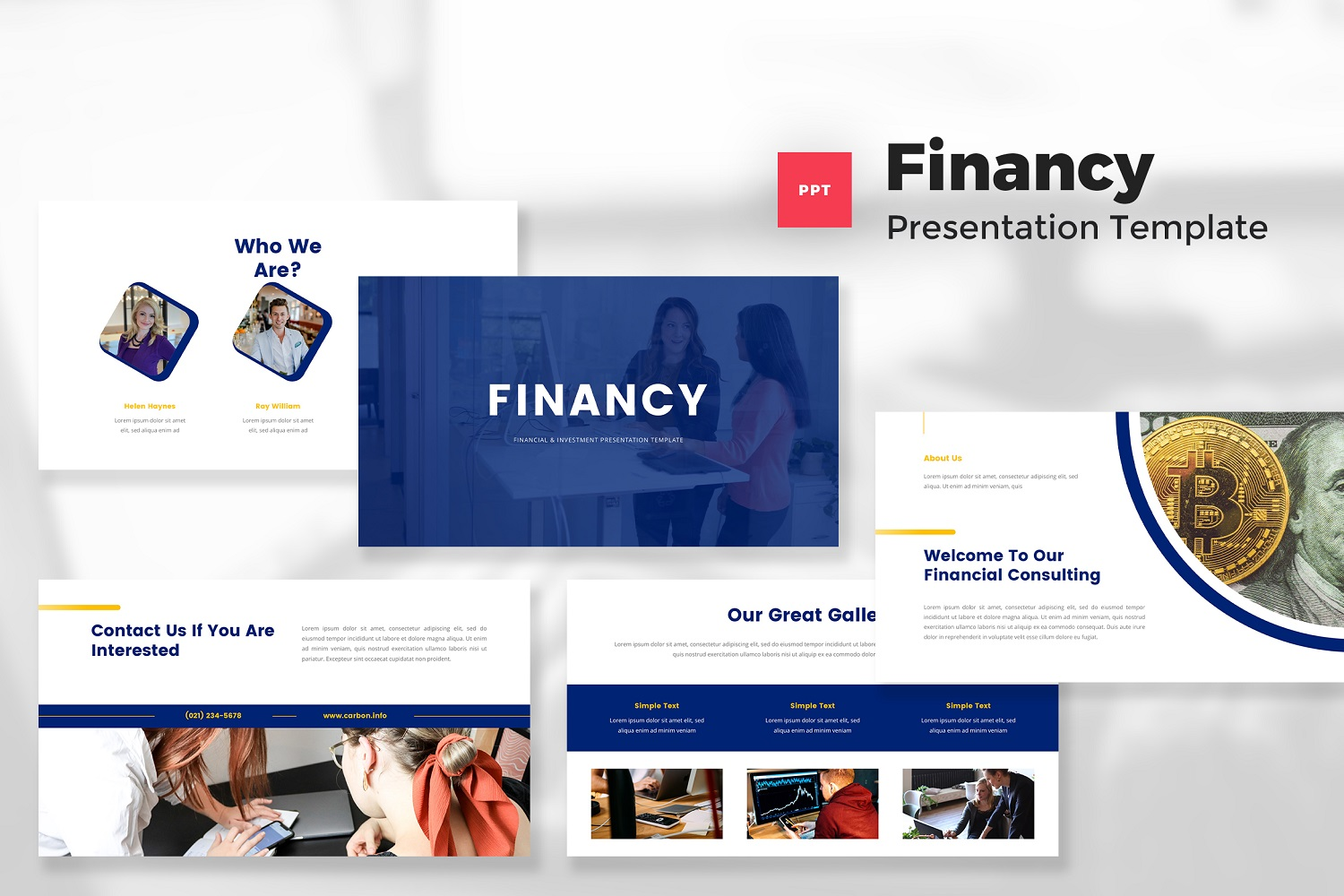 Financy - Financial & Investment PowerPoint Template