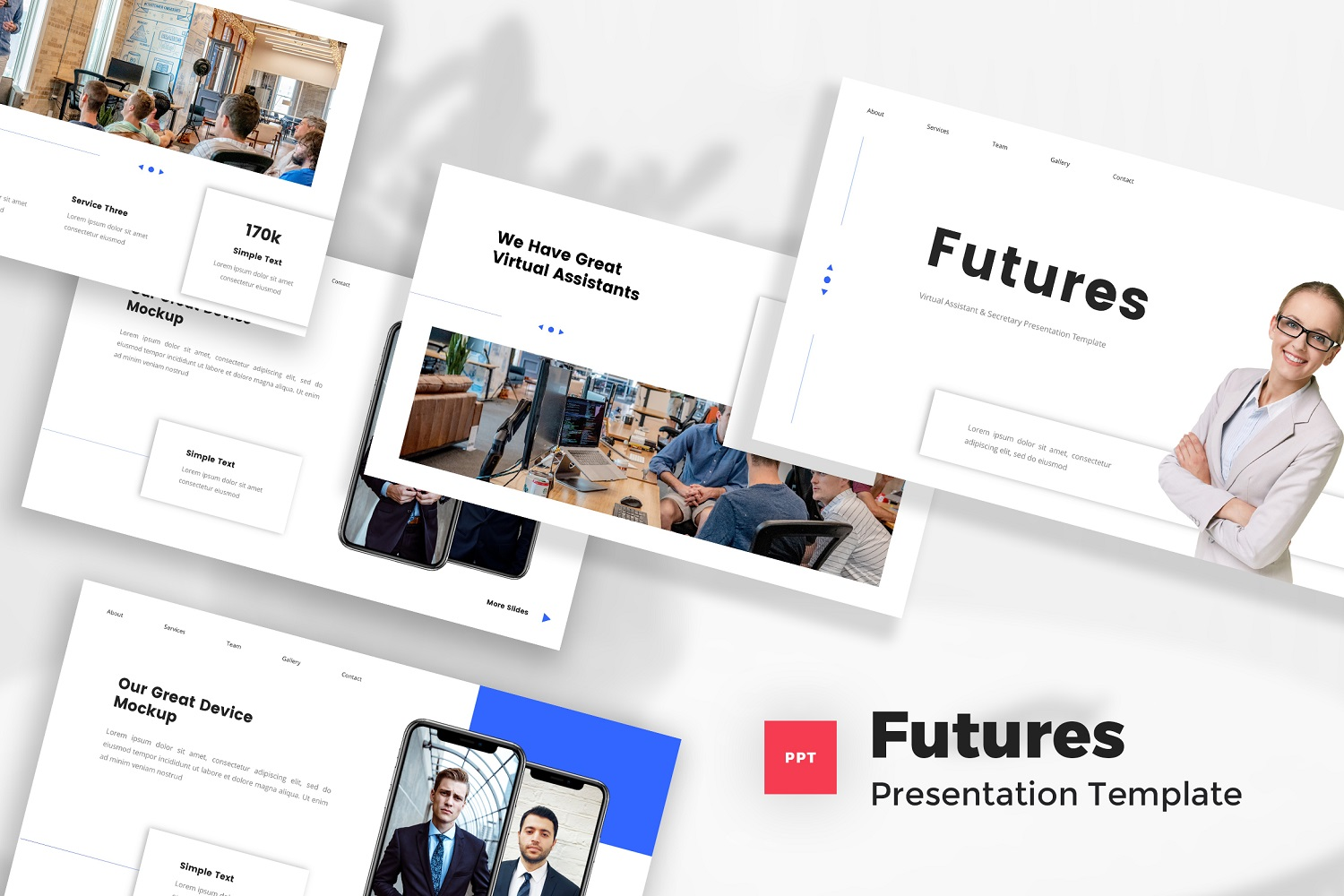 Futures - Virtual Assistant & Secretary Powerpoint Template