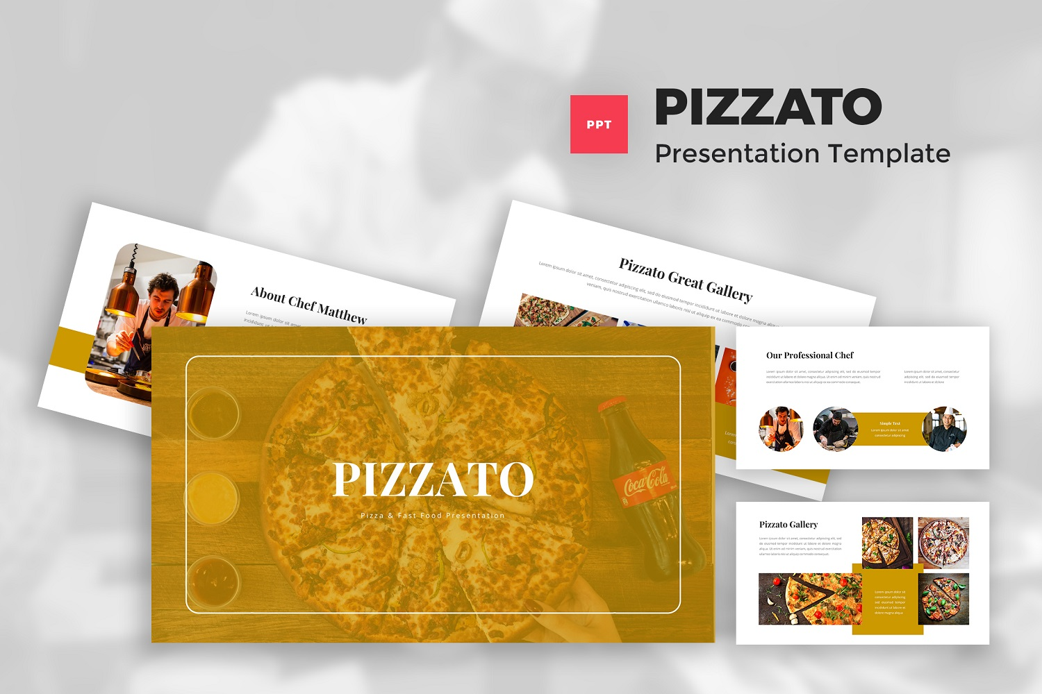 Pizzato - Pizza & Fast Food Powerpoint Template