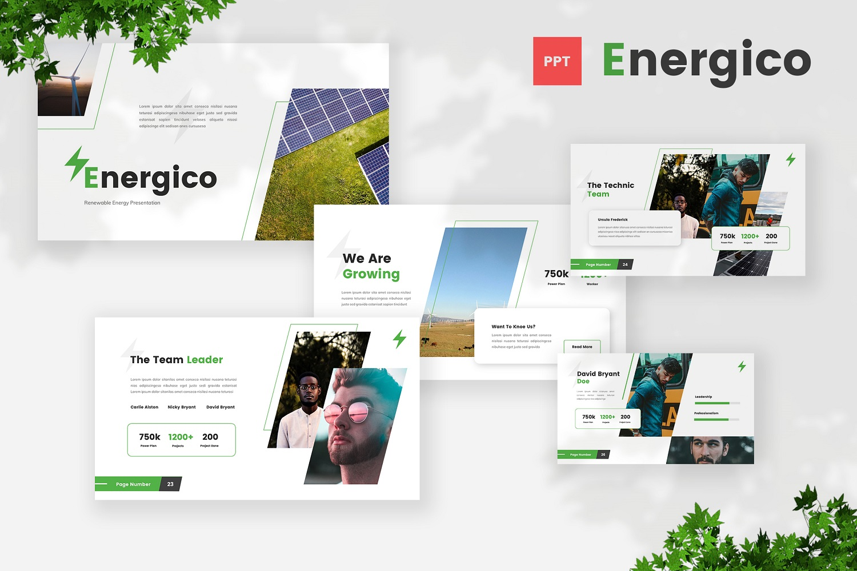 Energico - Renewable Energy Powerpoint Template