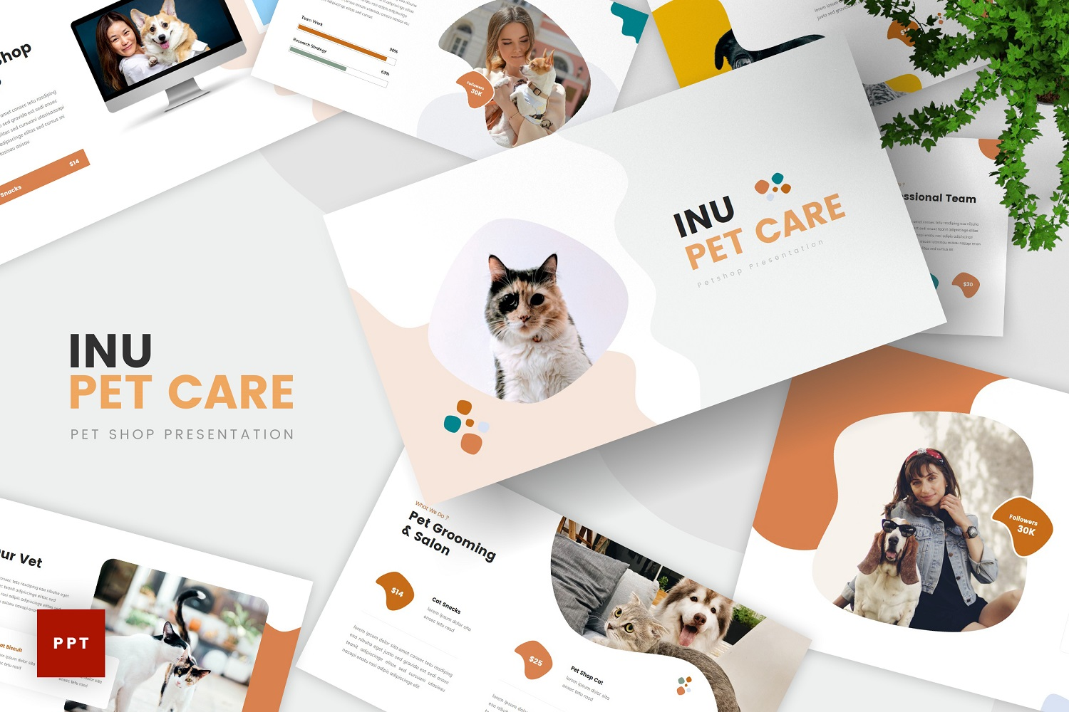 Inu - Pet Care Powerpoint Template
