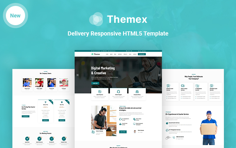 Themex - Delivery Responsive HTML5 Website Template