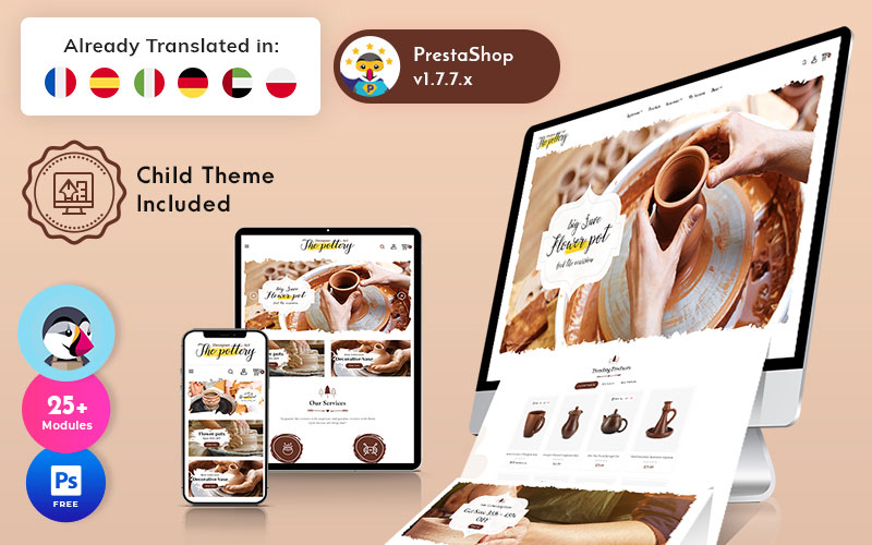 Pottery – Art Ceramic Store Multipurpose PrestaShop Theme