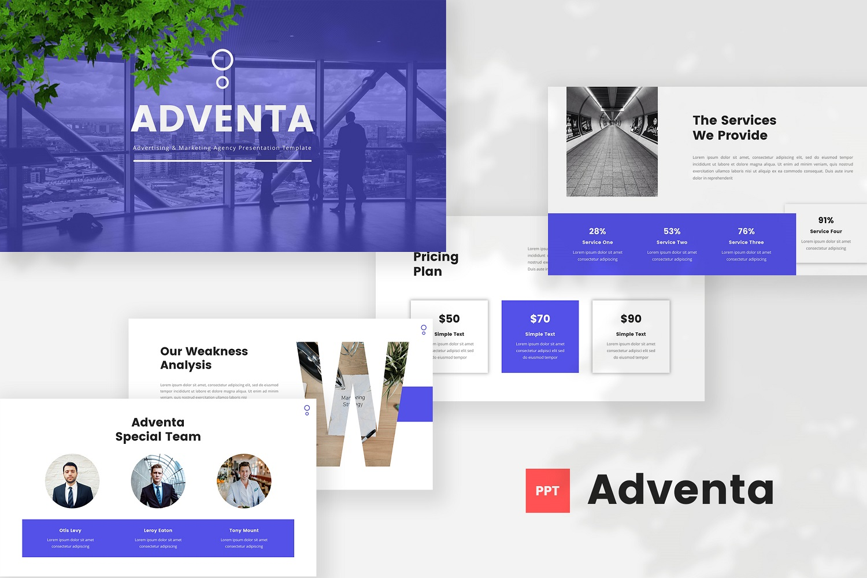Adventa - Advertising & Marketing Agency Powerpoint Template