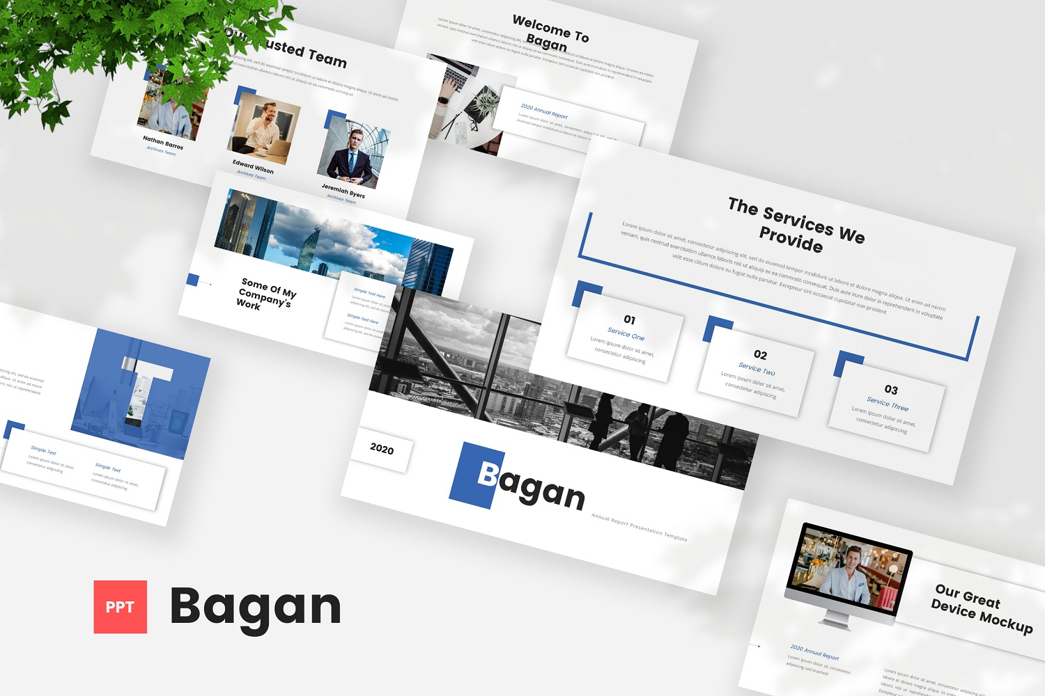Bagan - Annual Report Powerpoint Template