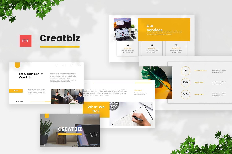 Creatbiz - Creative Business Powerpoint Template