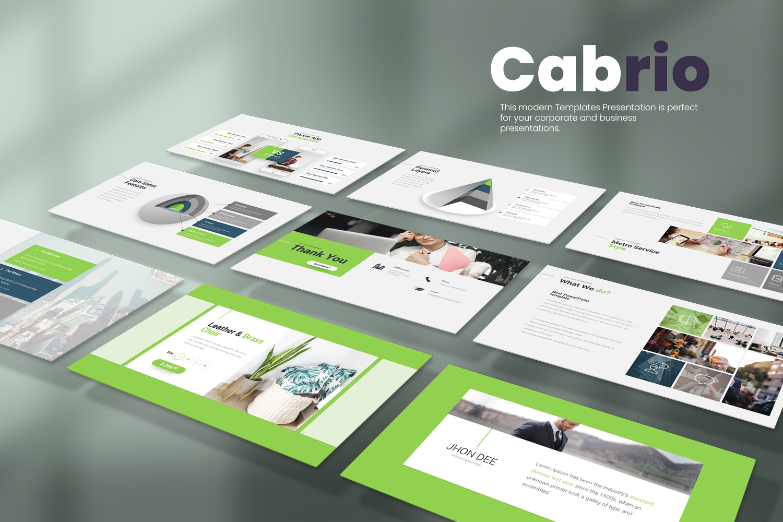 Cabrio Presentation Powerpoint template