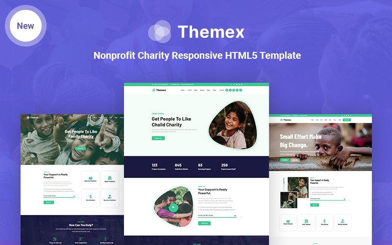 Themex-Charity Nonprofit Charity Responsive HTML5 Website Template