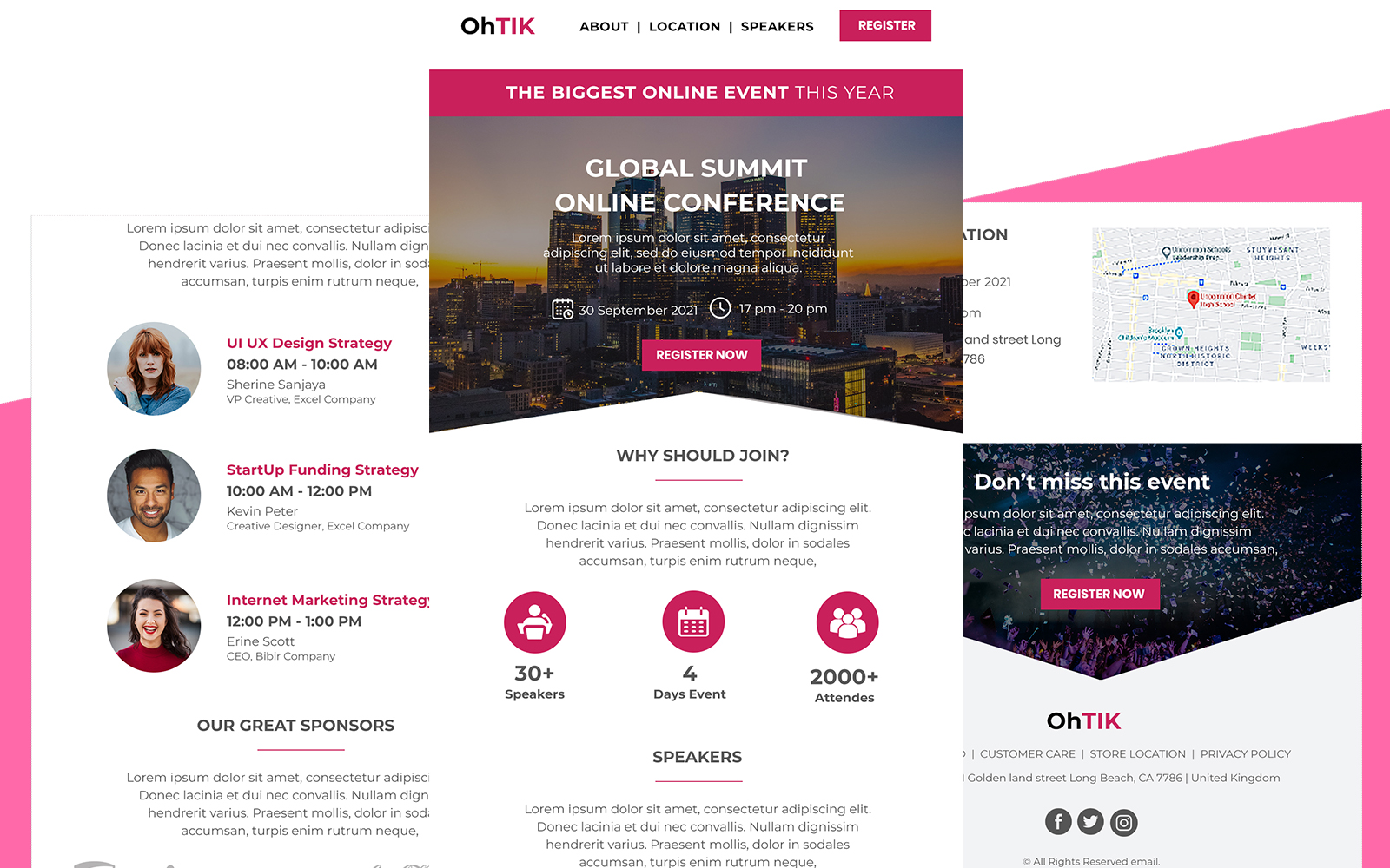 OhTik  - Multipurpose Event Responsive Newsletter Template