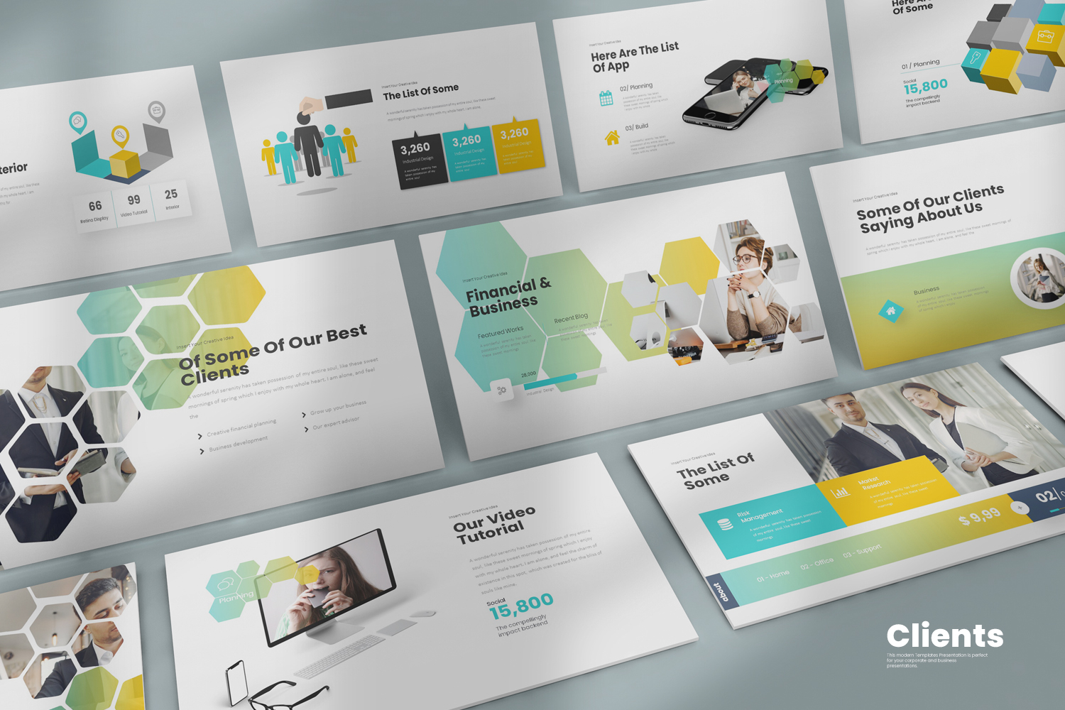 Clients Presentation PowerPoint template