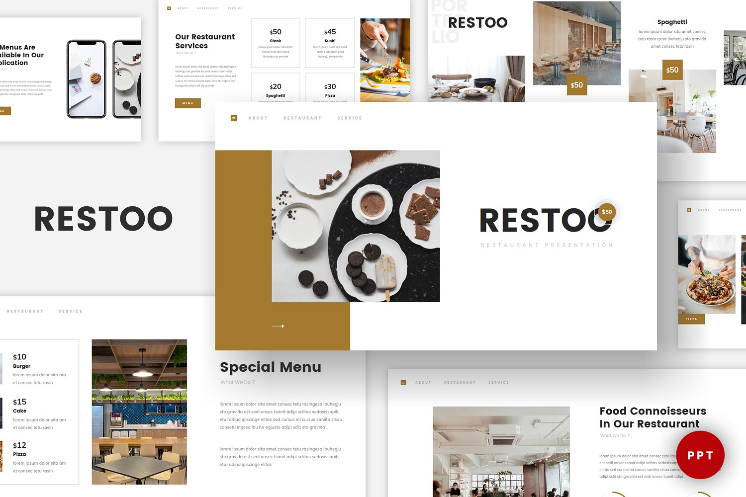 Restoo - Restaurant Powerpoint template