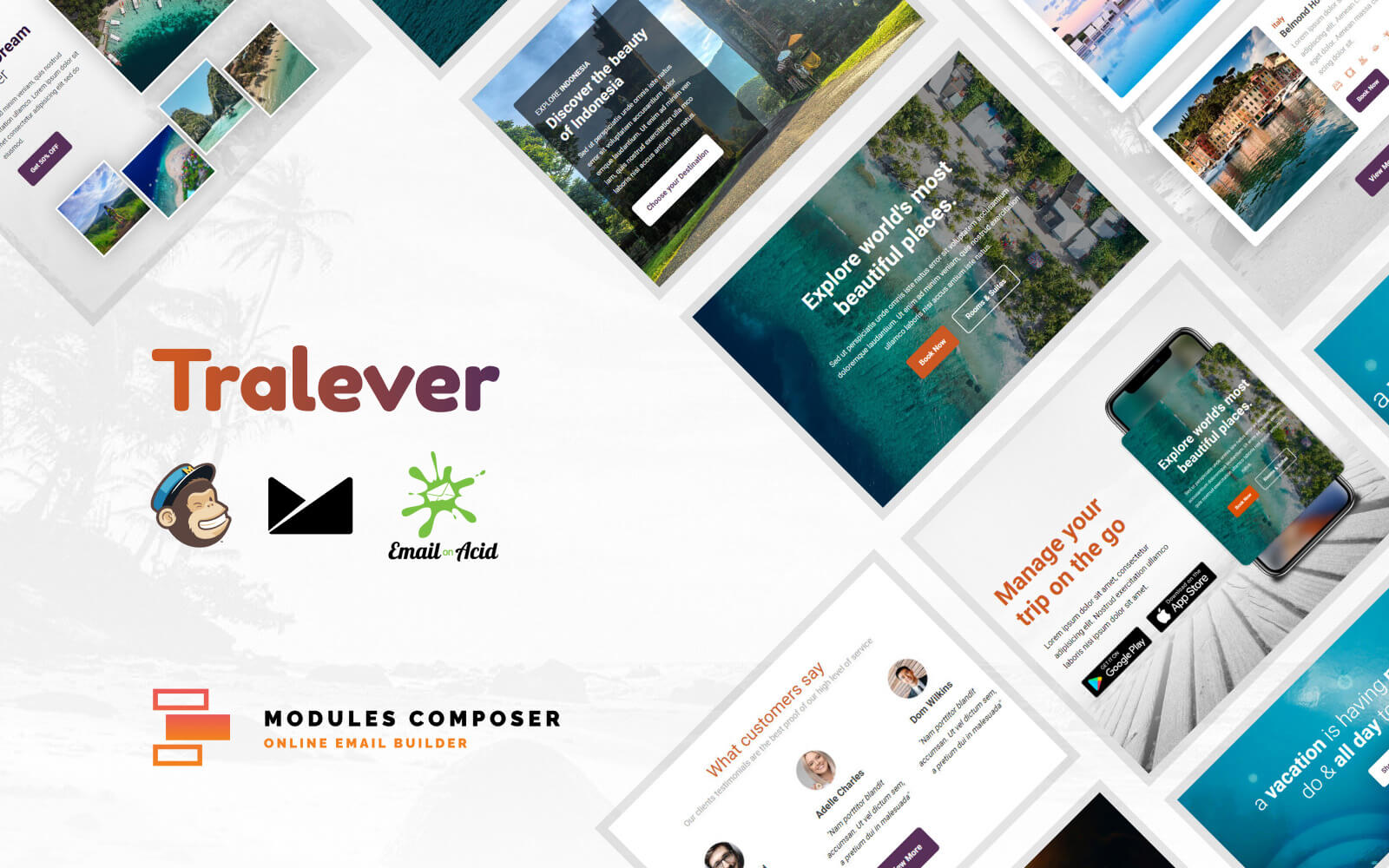 Tralever - Responsive Email Template for Booking and Traveling