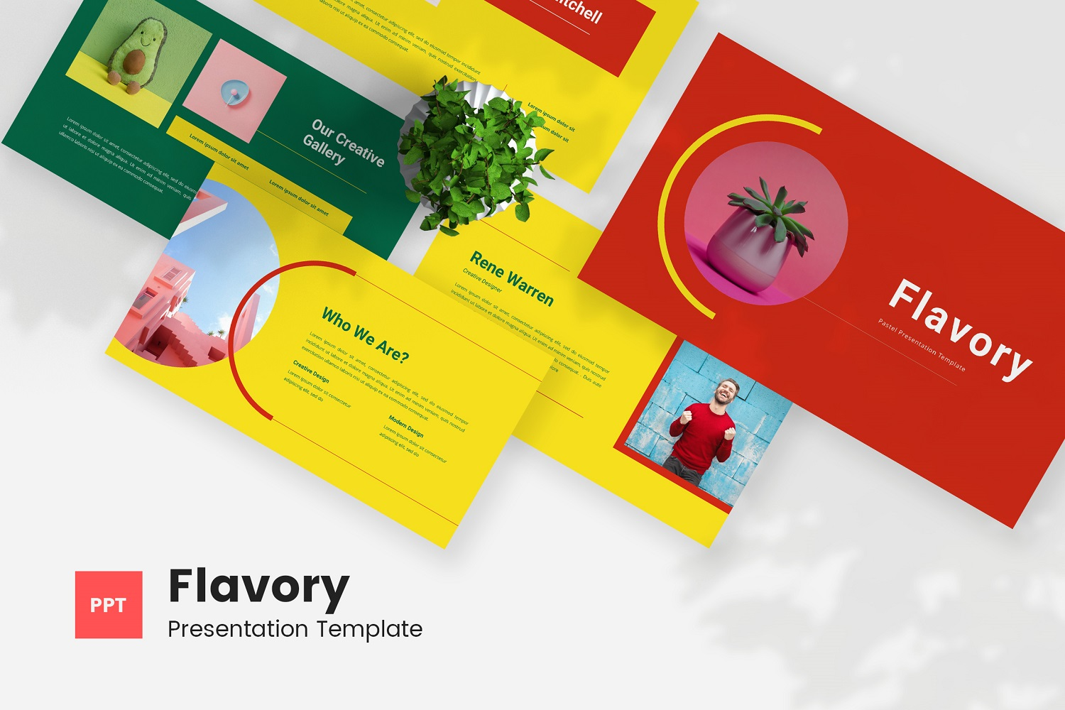 Flavory - Pastel Powerpoint Template