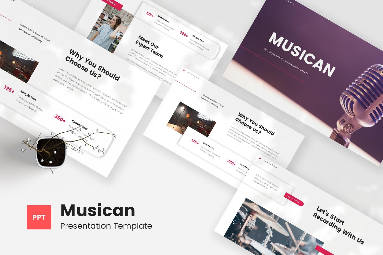 Musican - Music Organizer & Studio Powerpoint Template