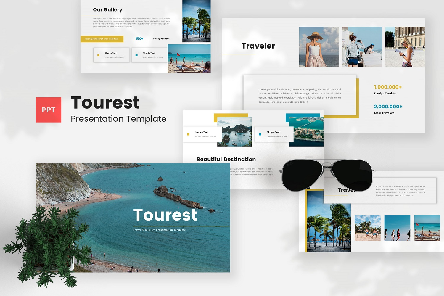 Tourest - Travel & Tourism Powerpoint Template