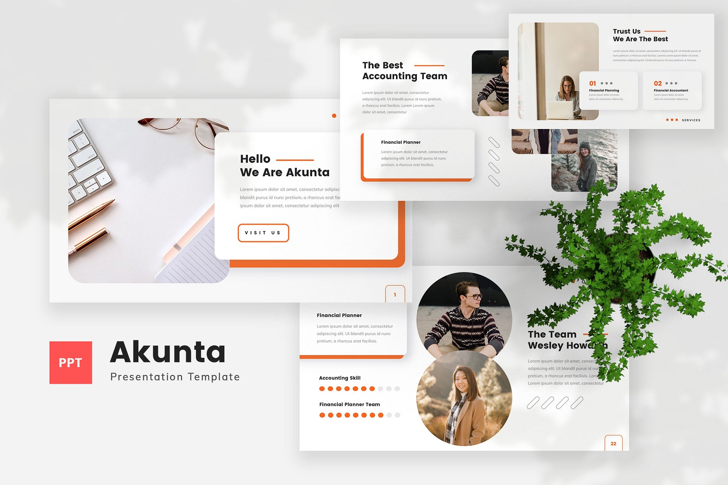 Akunta - Accounting Powerpoint Template