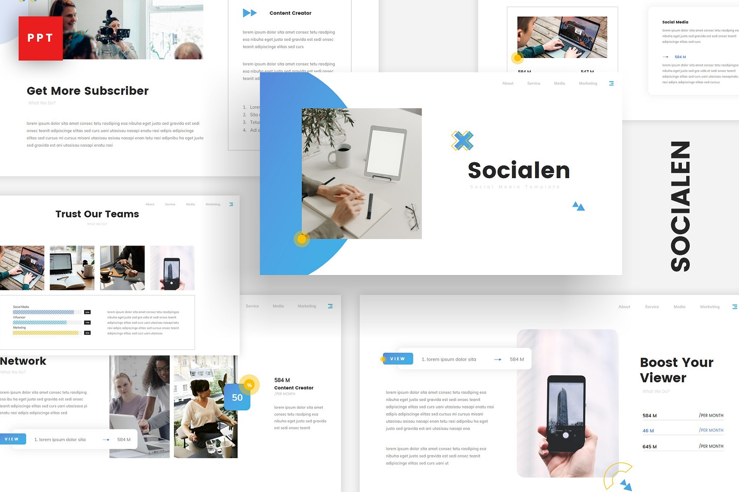 Socialen - Social Media Marketing Powerpoint Template