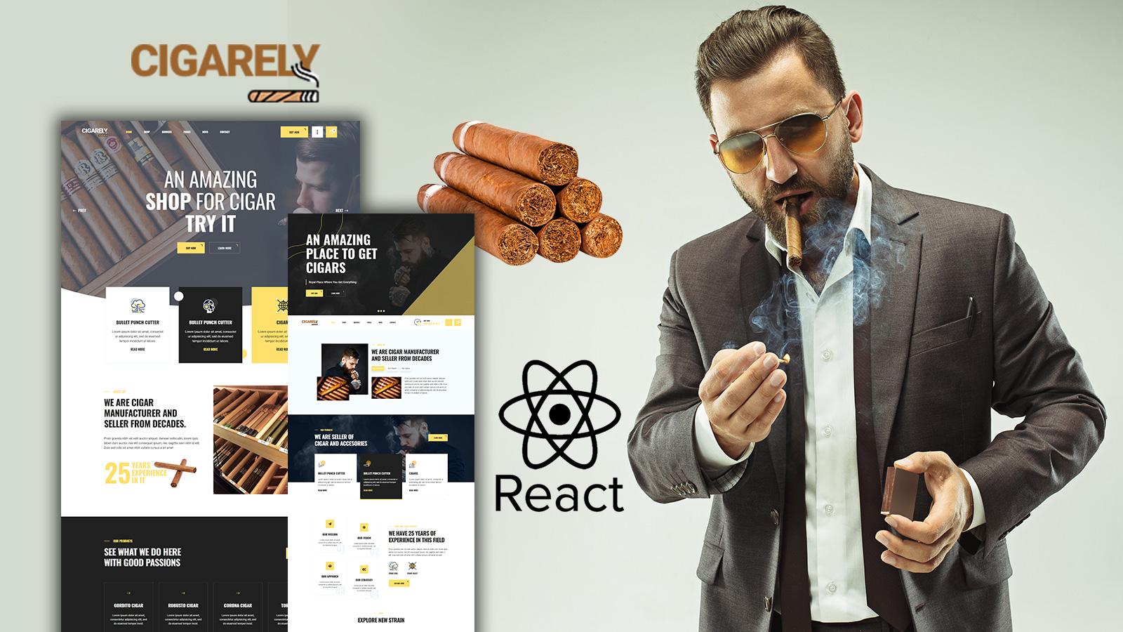 Cigarely - Cigar Shop React Website Template