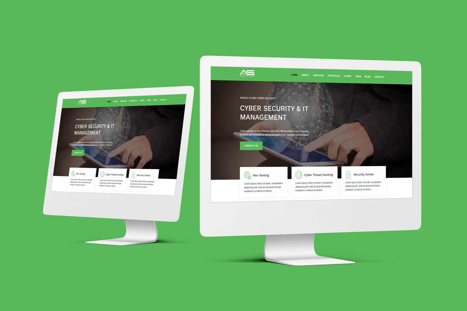 Shuvo- Cyber Security Company Landing Page Template