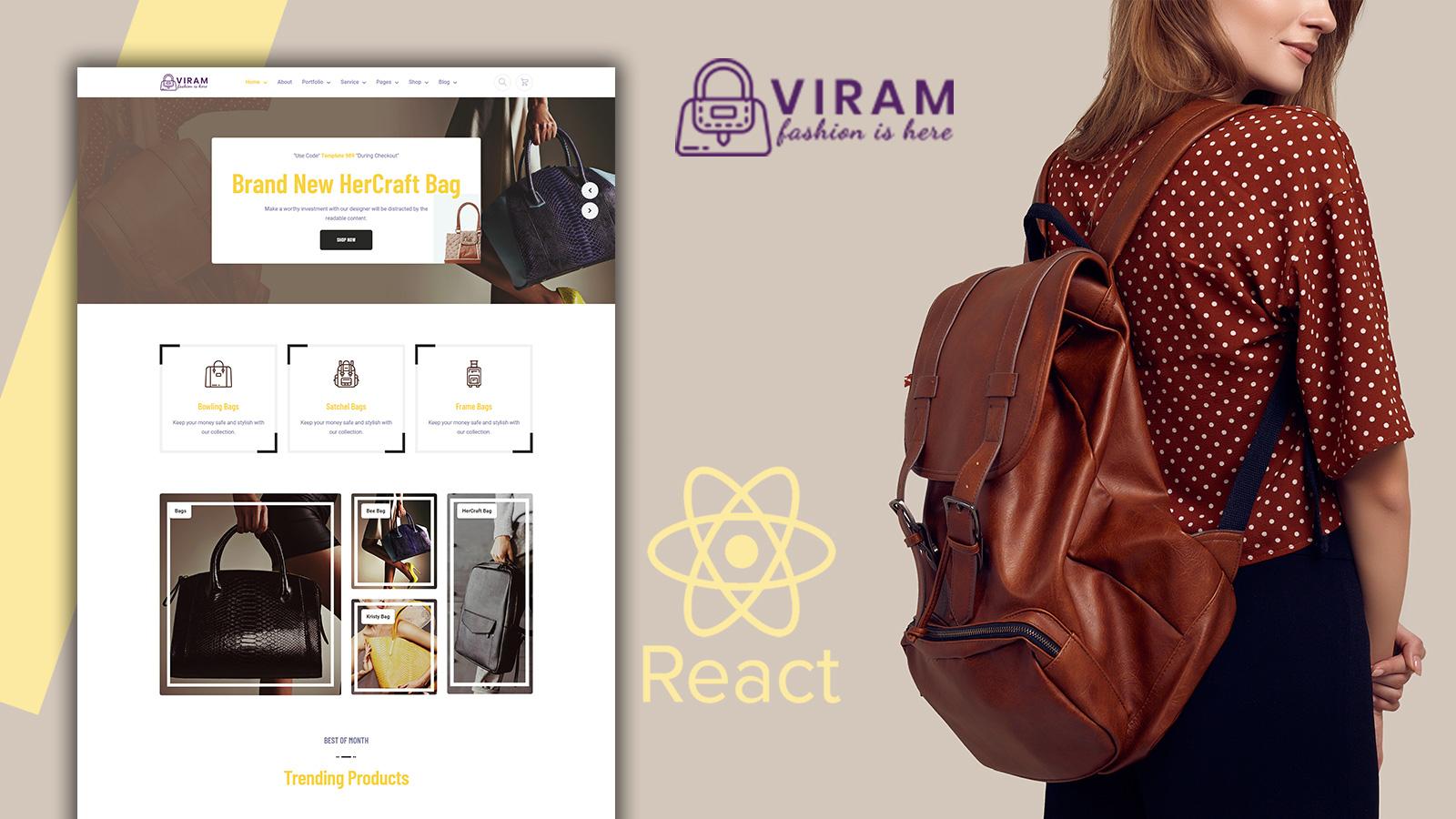 Viram - Bag Shop React Website Template