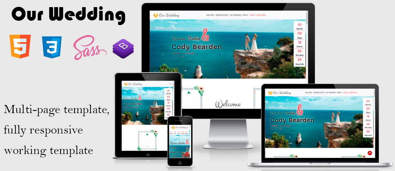 Wedding -  Fully Responsive Working Landing Page Template