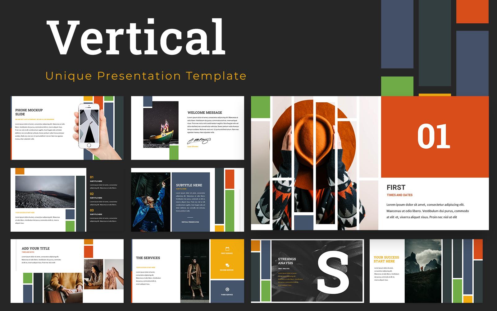 Vertical Powerpoint Presentation Template