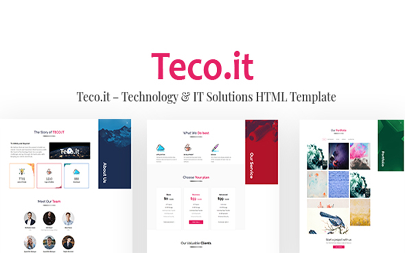 Teco.it – Technology & IT Solutions HTML Website Template
