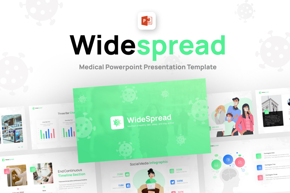 Widespread Health Creative PowerPoint Template