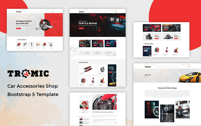 Tromic - Car Accessories Shop Bootstrap 5 Website Template