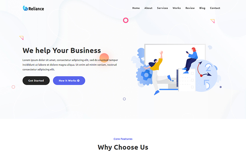 Reliance - Business Agency Landing Page Template