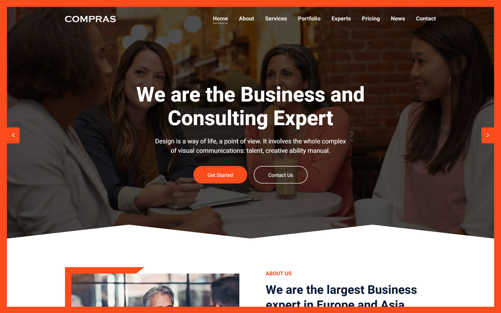 Compras - Business & Consulting Html Landing Page