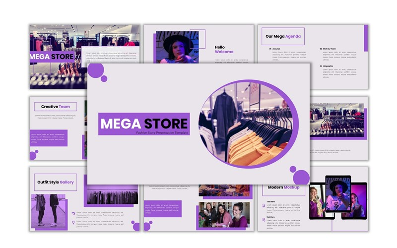 Mega Store - Creative Business Powerpoint Template