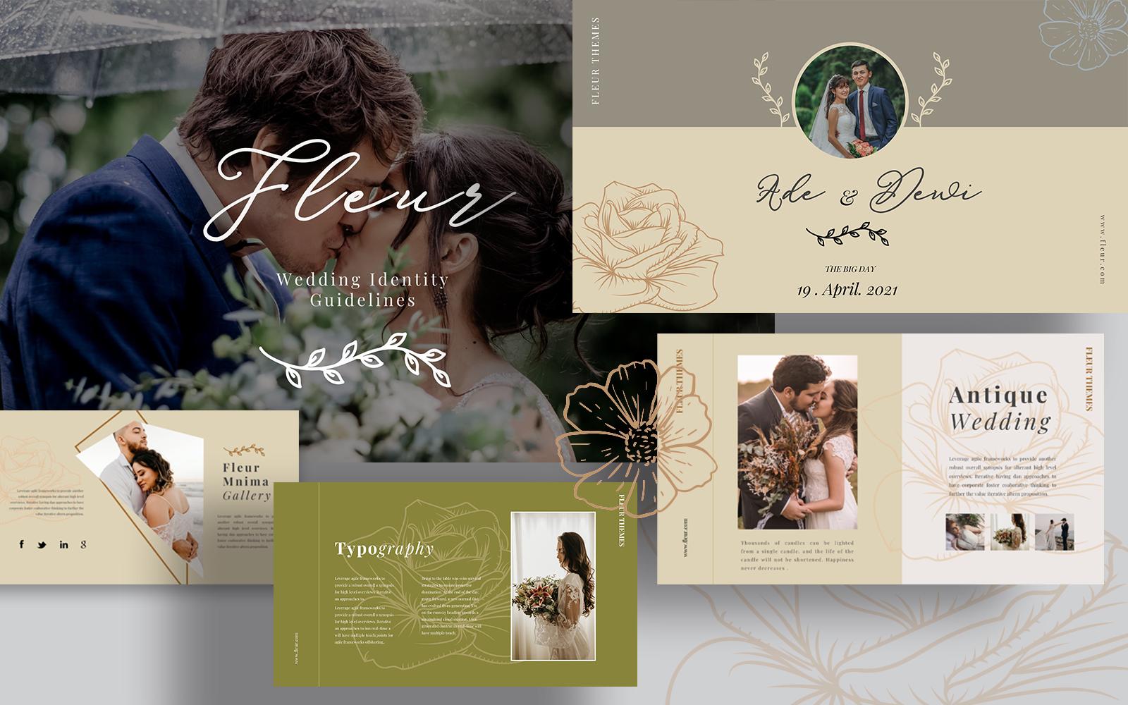 Fleur Wedding Powerpoint Templates