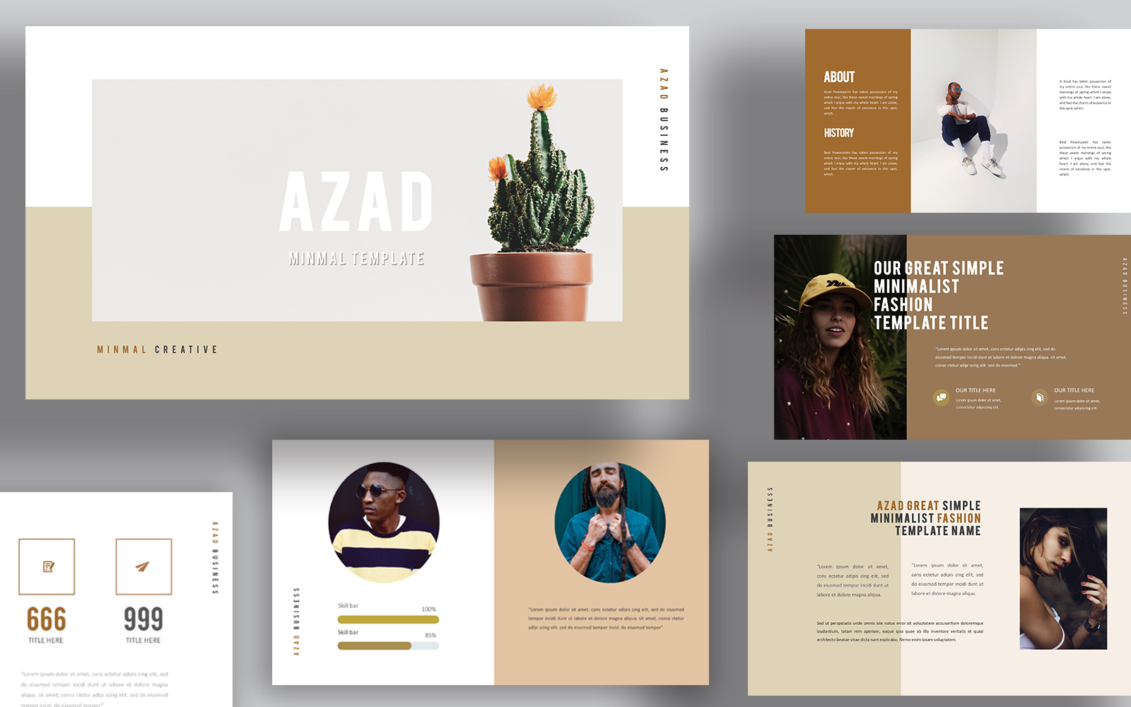 Azad Minimal Powerpoint Templates