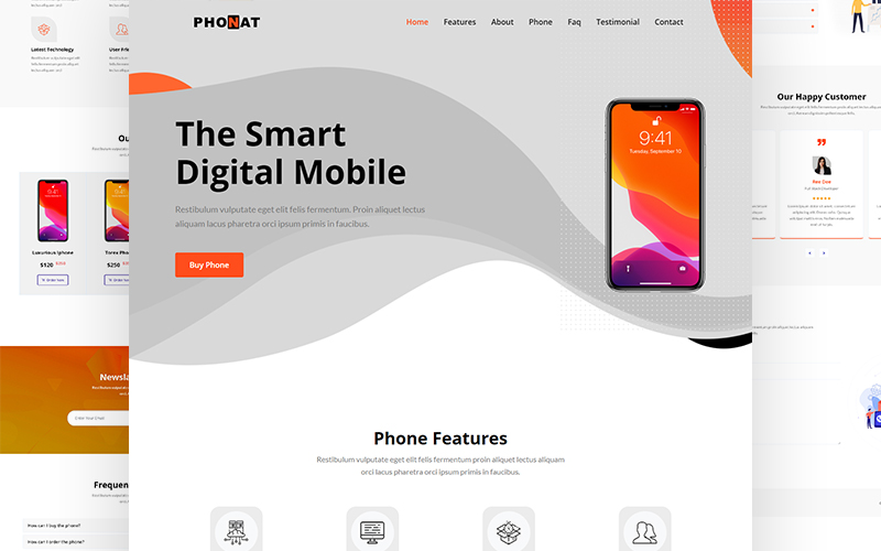 Phonat - Product Landing Page Template