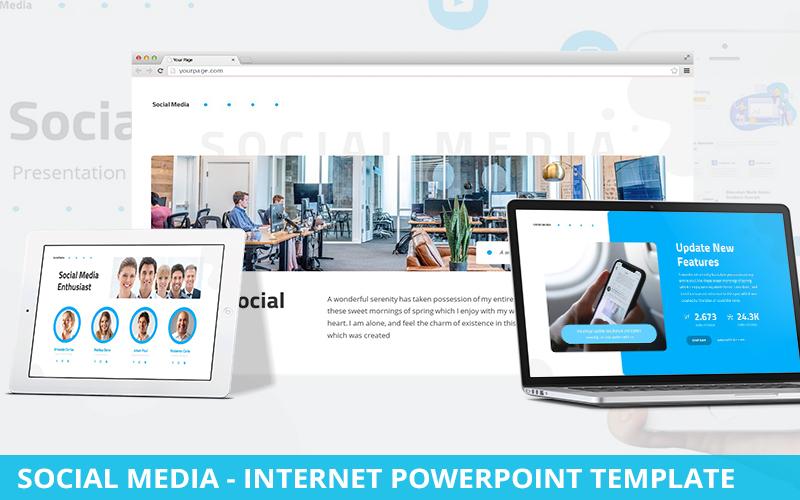 Social Media - Internet Powerpoint Template
