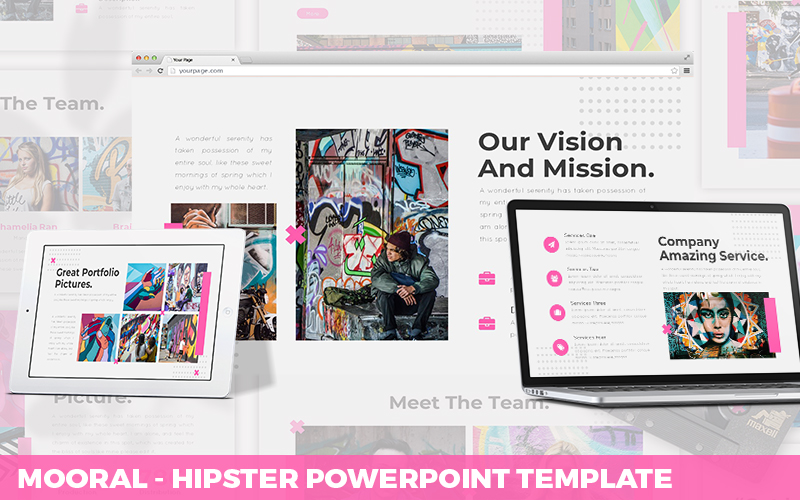Mooral - Hipster Powerpoint Template