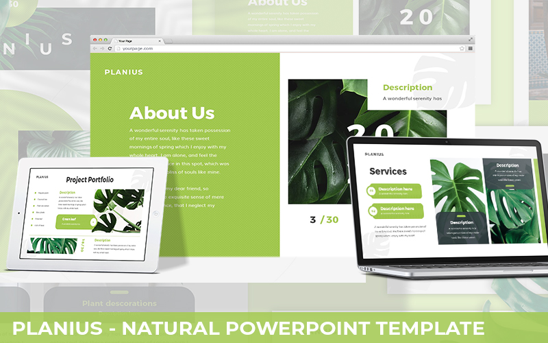 Planius - Natural Powerpoint Template