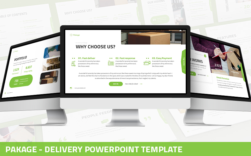 Pakage - Delivery Powerpoint Template