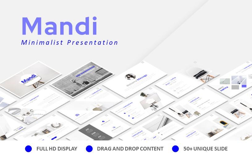 Mandi Minimalist Presentation PowerPoint Template