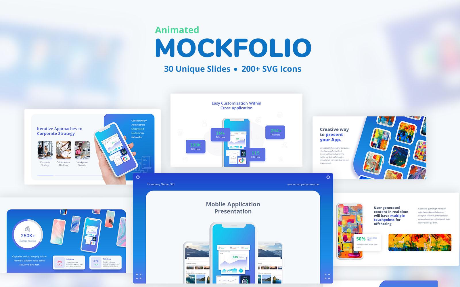 MockFolio - Animated Mockup Powerpoint Template