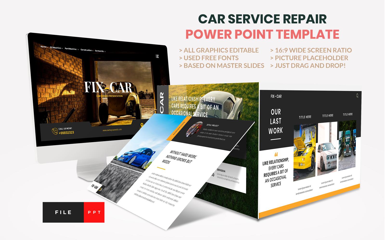 Car Repair Service PowerPoint Template